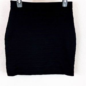 Express Black Mini Skirt Size 6
